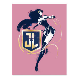 Wunder-Frau der Gerechtigkeits-Liga-| u. JL Postkarte