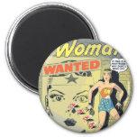 Wunder-Frau gewollt Runder Magnet 5,1 Cm