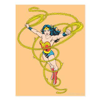Wunder-Frau im Lasso Postkarte