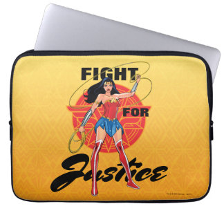 Wunder-Frau mit Lasso - Kampf für Gerechtigkeit Laptopschutzhülle