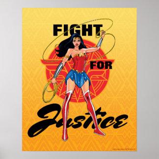 Wunder-Frau mit Lasso - Kampf für Gerechtigkeit Poster