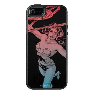 Wunder-Frau mit Lasso-roter blauer Steigungs-Linie OtterBox iPhone 5/5s/SE Hülle