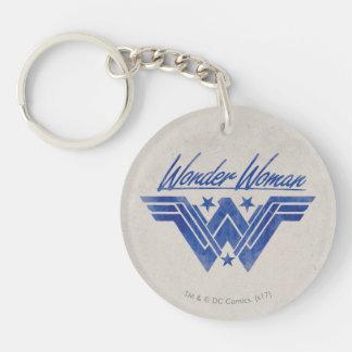 Wunder-Frau stapelte Stern-Symbol Schlüsselanhänger