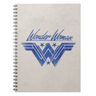 Wunder-Frau stapelte Stern-Symbol Spiral Notizblock