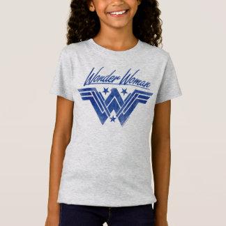 Wunder-Frau stapelte Stern-Symbol T-Shirt