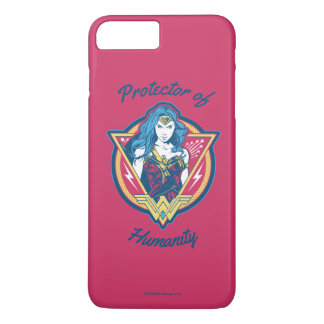 Wunder-Frau Tri Farbegraphik-Schablone iPhone 8 Plus/7 Plus Hülle