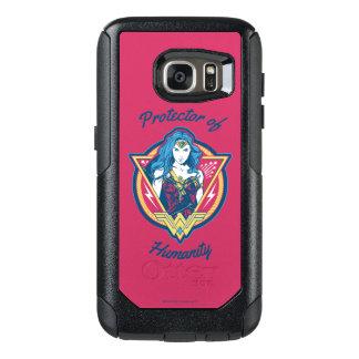 Wunder-Frau Tri Farbegraphik-Schablone OtterBox Samsung Galaxy S7 Hülle