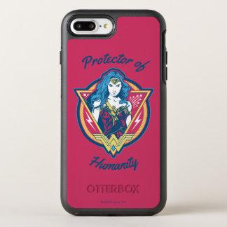 Wunder-Frau Tri Farbegraphik-Schablone OtterBox Symmetry iPhone 8 Plus/7 Plus Hülle