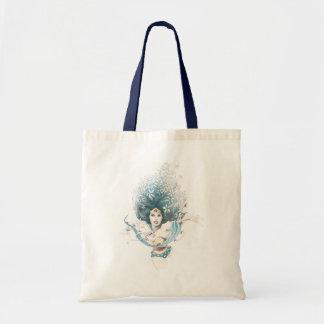 Wunder-Frau und Blumen Taschen