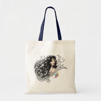 Wunder-Frau und Sterne Einkaufstasche
