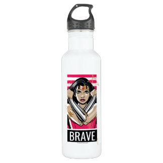 Wunder-Frau verteidigen - Schablone Trinkflasche