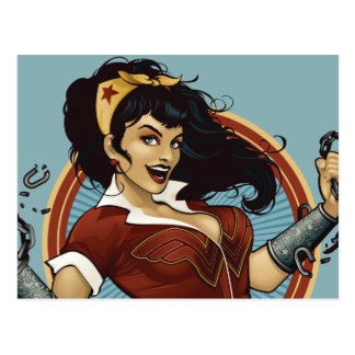 Wunder-Frauen-Bomben-Namen-Grafik Postkarten