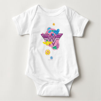 Wunder-Frauen-bunte Gekritzel Baby Strampler