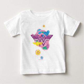 Wunder-Frauen-bunte Gekritzel Baby T-shirt