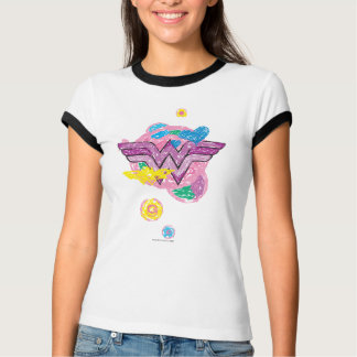 Wunder-Frauen-bunte Gekritzel T-Shirt