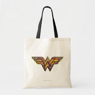 Wunder-Frauen-buntes Logo Budget Stoffbeutel
