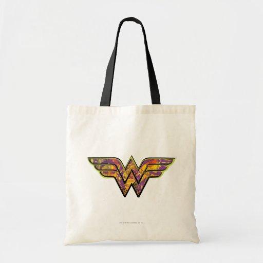 Wunder-Frauen-buntes Logo Tasche