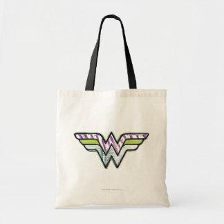 Wunder-Frauen-buntes Skizze-Logo Budget Stoffbeutel