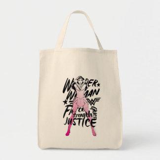 Wunder-Frauen-Bürsten-Typografie-Kunst Einkaufstasche