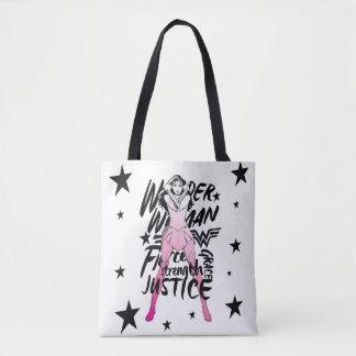 Wunder-Frauen-Bürsten-Typografie-Kunst Tasche