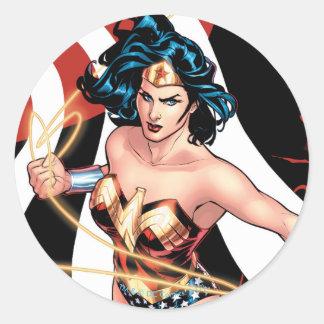 Wunder-Frauen-Comic-Abdeckung #12 Runder Aufkleber