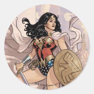 Wunder-Frauen-Comic-Abdeckung #13 Runder Aufkleber