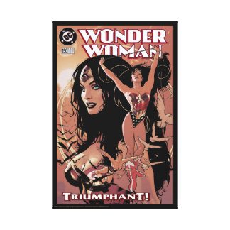Wunder-Frauen-Comic-Abdeckung #150: Triumphierend Leinwanddruck