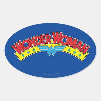 Wunder-Frauen-Comic-Buch-Logo 1987 Ovaler Aufkleber