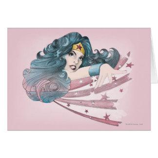 Wunder-Frauen-Delphin und Streifen Karte