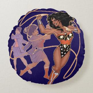 Wunder-Frauen-Diana-Prinz Transformation Rundes Kissen