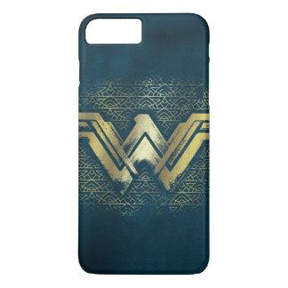 Wunder-Frauen-gebürstetes Goldsymbol iPhone 8 Plus/7 Plus Hülle