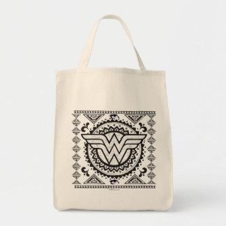 Wunder-Frauen-geistiger Stammes- Entwurf Einkaufstasche
