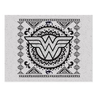 Wunder-Frauen-geistiger Stammes- Entwurf Postkarte