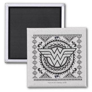 Wunder-Frauen-geistiger Stammes- Entwurf Quadratischer Magnet