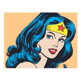 Wunder-Frauen-Gesicht Postkarte