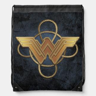 Wunder-Frauen-Goldsymbol über Lasso Sportbeutel