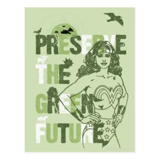 Wunder-Frauen-Grün-Zukunft Postkarte