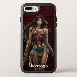 Wunder-Frauen-Kampf-Bereite Comic-Kunst OtterBox Symmetry iPhone 8 Plus/7 Plus Hülle
