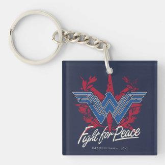 Wunder-Frauen-Kampf für Friedenssymbol Schlüsselanhänger