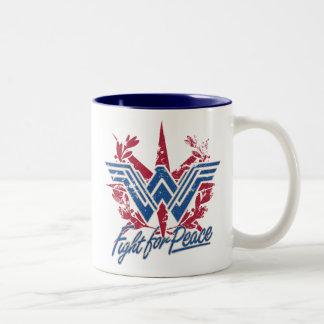 Wunder-Frauen-Kampf für Friedenssymbol Zweifarbige Tasse