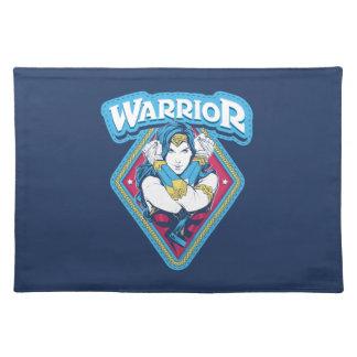 Wunder-Frauen-Kriegers-Grafik Stofftischset