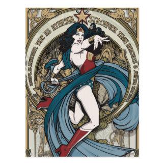 Wunder-Frauen-Kunst Nouveau Platte Postkarte