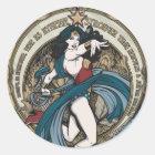 Wunder-Frauen-Kunst Nouveau Platte Runder Aufkleber