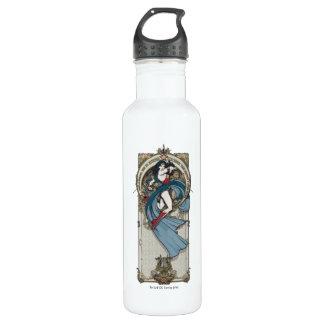 Wunder-Frauen-Kunst Nouveau Platte Trinkflasche