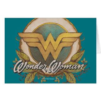 Wunder-Frauen-Laub-Skizze-Logo Grußkarte