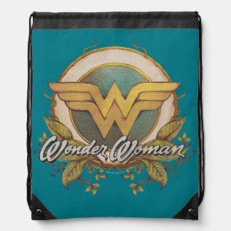 Wunder-Frauen-Laub-Skizze-Logo Turnbeutel