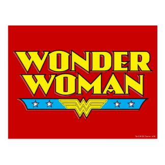 Wunder-Frauen-Name und Logo Postkarte