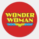 Wunder-Frauen-Name und Logo Runder Aufkleber