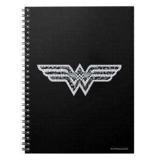 Wunder-Frauen-Paisley-Logo Spiral Notizblock