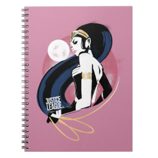 Wunder-Frauen-Profil-Pop-Kunst der Notizblock